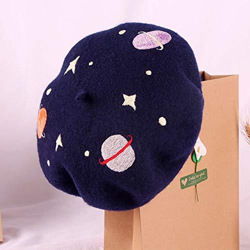 LDGUWENHUA borduurwerk Starter Kit baret hoed handgemaakte borduurwerk steek draden stof Australische wol