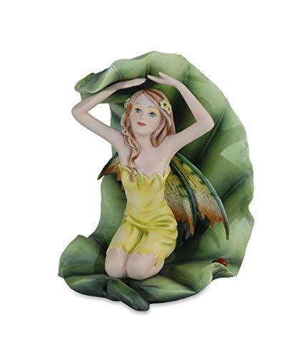 Les Alpes Orig. Sammlerfigur Fee OLONA, Kollektion Fairy Land - Handbemalter Engel Feenfigur aus hochwertigem Kunstharz mit viel Liebe zum Detail, Höhe 17,5 cm