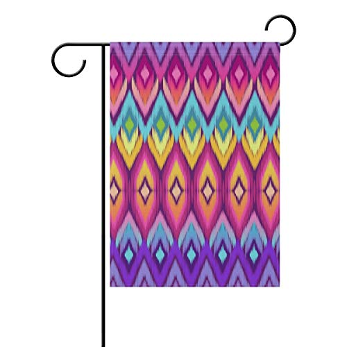 Nijio Hippie Rainbow Feathers Bohemian Vintage Garden Flag Flags Yard Banner for Outside House Flower Pot Double Side Print 40 x 28 Inch