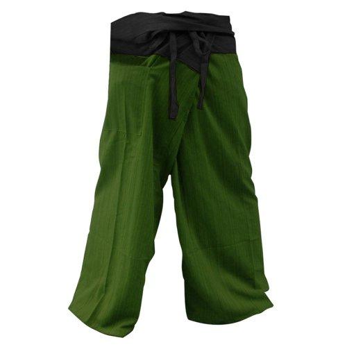"""THAICOMPLEX"" 2 TONE Thai Fisherman Pants Yoga Trousers FREE SIZE Plus Size Cotton"