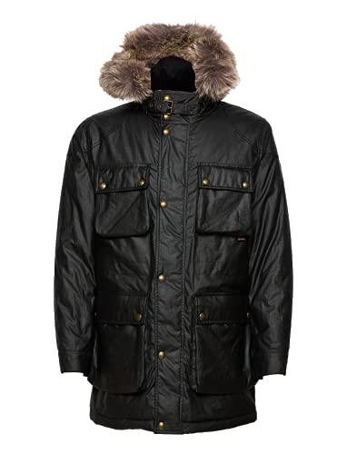 Belstaff Waxed Pathmaster Parka Coat Khaki-52