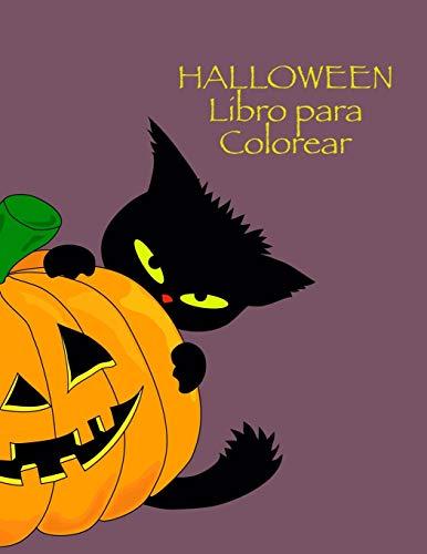 Halloween Libro para Colorear: Niños libro de Halloween, niños de 4-8 años, con: Los monstruos esqueletos magia