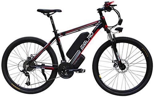 Bicicleta eléctrica de nieve, 26' bicicleta eléctrica for los adultos, E-bici con motor 1000W 48V 15AH Profesional 27 de velocidad de bicicletas Mountain Gear batería de litio de ciclo al aire libre B