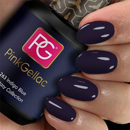 Pink Gellac Shellac Gel Nagellack 15 ml für UV LED Lampe | 263 Indigo Blue Blau | Gel Nail Polish for UV Nail Lamp | LED Nagel Lack Gellack Nagelgel
