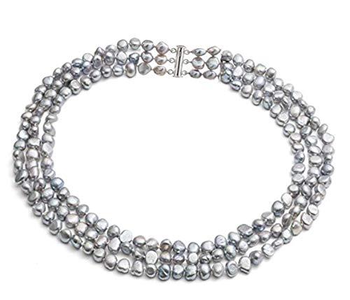 TreasureBay  -    versilbert  Barock Süßwasser-Zuchtperle  Perle
