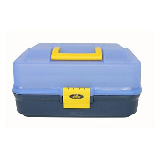 Lineaeffe Valigetta Pesca 3 Vassoi 3 Etages Boîte de Pêche Msllette Rangement Accessoire Leurre Hameçon Tackle Box Plastique