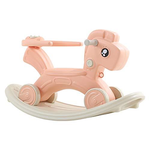 FZJDX 2 in 1 Kinder Trojaner Schaukelpferd Kinder Flaschenzug Stuhl Multifunktionales Sicherheitsspielzeug Mit Musik Babys Jungen Mädchen Schöne Geschenke