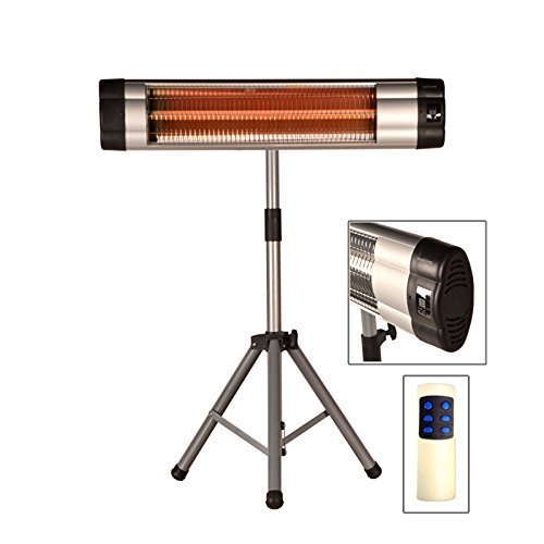 DRULINE Infrarot Heizstrahler Standheizer Terassen Strahler Fernbedienung Modell 1 - m. Thermostat
