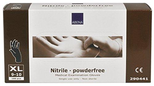 Abena Nitril Handschuh X-Large Puderfrei schwarz