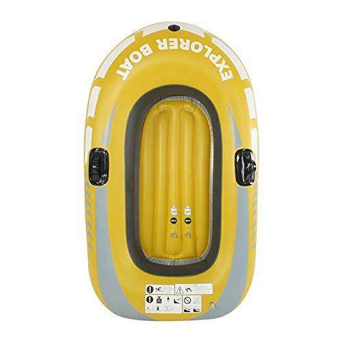ASDFGH Aufblasbares Fischerboot, PVC, aufblasbares Kajak, Kanu, 1–2 Personen, Rudern, Luftboot, Angeln, Driften, Tauchen, Traglast bis zu 90 kg