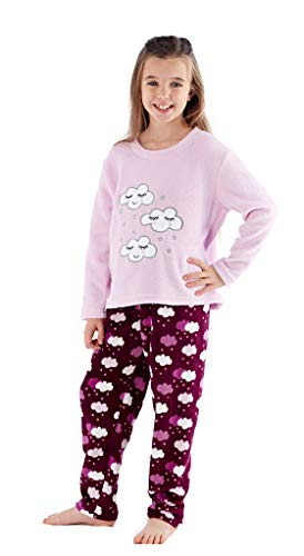 Selena Girl Pyjama-Set Cloud Design für Kinder (13 Jahre, Rosa Top)