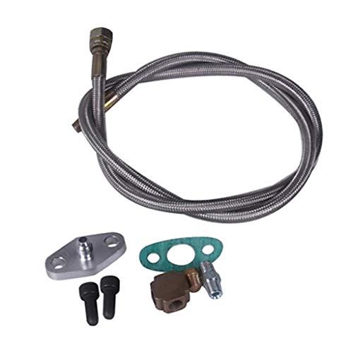 Homyl Kit D'Adaptateur Conduite D'Alimentation Huile pour Turbocompresseur Universel T3