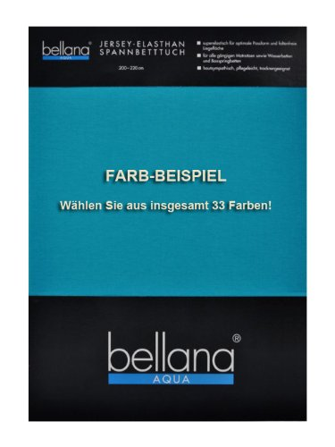 Bellana Spannbettlaken Wasserbett Aqua-Jersey Multifunktion 180x200 bis 200x220