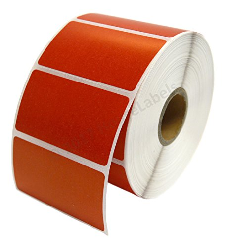 """Zebra/Eltron Compatible 2.25"""" x 1.25"""" RED Direct Thermal Labels - SIX (6) Rolls; 1,000 per Roll - 2.25 x 1.25 Labels (2-1/4"""" x 1-1/4"""") - BPA Free!�"""