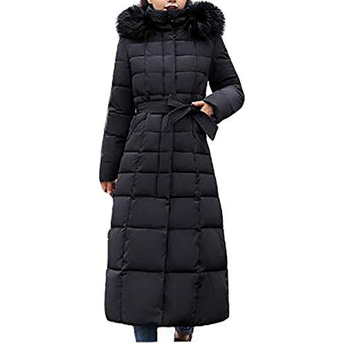 WODENINEK Winter Grote Maat Dons Jas Vrouwen Houd Warm Hooded Dik Jas Losse Lange Over De Knie Grote Bont Kraag Jas