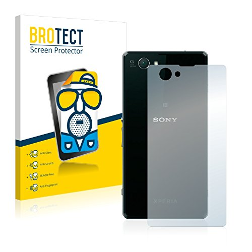 BROTECT Protector Pantalla Anti-Reflejos Compatible con Sony Xperia Z1 Compact D5503 (Trasero) (2 Unidades) Pelicula Mate Anti-Huellas