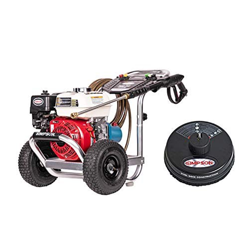 SIMPSON Cleaning ALH3228-S Aluminum Gas Pressure Washer Powered by Honda GX200 3400 PSI at 2.5 GPM + Simpson Cleaning 80165 Universal 15