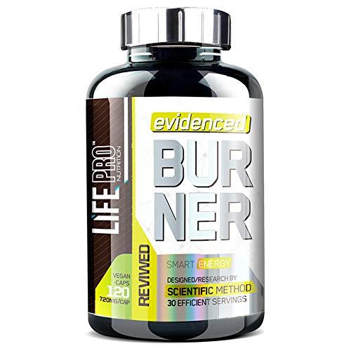 Life Pro Evidenced Burner 720mg 120 Vegancaps | Quemador de grasa para mujeres y hombres | Quemagrasa potente para adelgazar