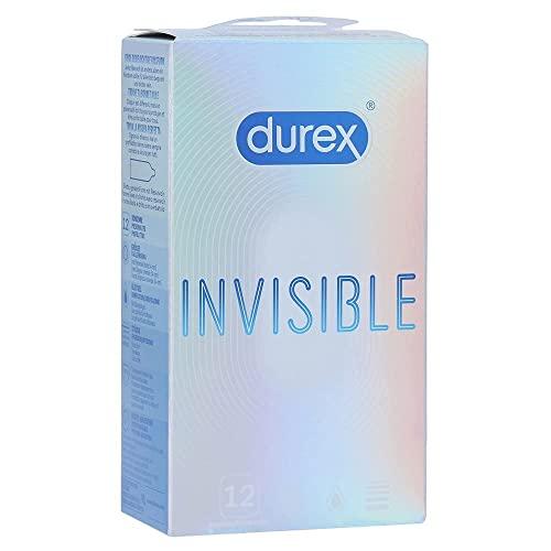 Durex Invisible Kondome – Kondome extra dünn für intensives Empfinden beim gemeinsamen Liebesspiel – 12er Pack (1 x 12 Stück)