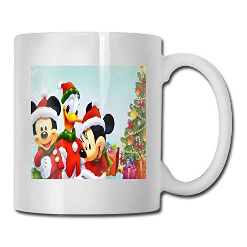 Lawenp Mic-Key Mou-se y Don-ald Du-ck Taza de cerámica Taza de café Taza de té Oficina y hogar Capacidad 330 ml