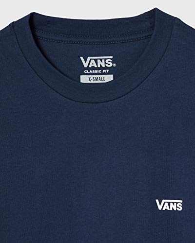 Vans Left Chest Logo tee Camiseta, Vestido Blues-Blanco, XS para Hombre