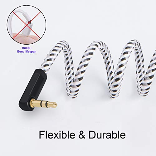 3.5mm Male to Female Stereo Audio Extension Cable, CableCreation 15FT Headphone Extension Cable Right Angle Compatible with Sony/Beats Headphones, Phone, Echo Dog, Speaker, Home