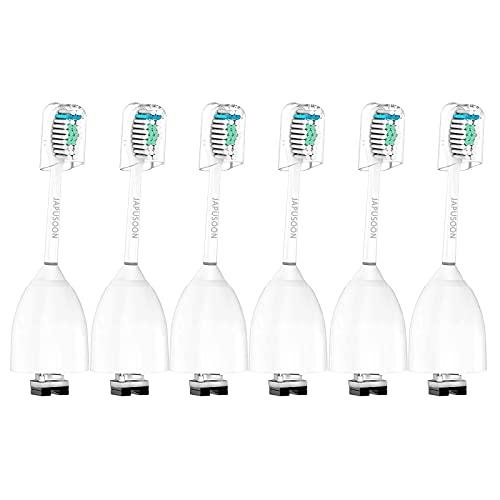 Recambio Cepillo de Dientes Eléctrico para Philips Sonicare E Series Cabezales de Cepillos Eléctricos, Essence, Advance, CleanCare, Xtreme, eSeries ,6 Piezas
