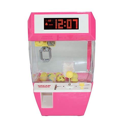 Sansella Reloj Despertador Catcher máquina tragamonedas máquina de Juego Caramelo Colgando muñeca Garra Garra máquina Arcade Juguetes automáticos para niños