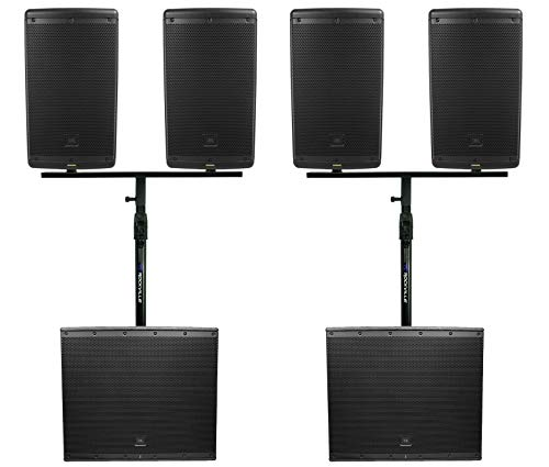 Lowest Price! JBL DJ Package (4) EON610 10 Speakers+Mounts+(2) EON618S 18 Powered Subwoofers