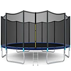 💝 Six U-shaped Legs : Six legs are arranged averagely under the trampoline. U-shaped legs can also disperse much more gravity and enable the whole trampoline to be more stable. It is also more convenient to be assembled on the ground. 💝 Safety Enclos...