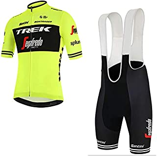 Traje de Ciclismo para Hombre de Equipos. Culotte y Maillot. con 5D Gel Pad. para MTB, Spinning, Bicicleta de Carretera