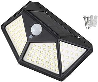 ZKS-KS 100 LED Solar Power Wall Light Intelligent Light-Sensing Control 120 Degrees PIR Motion Sensor Durable Outdoor Gard...
