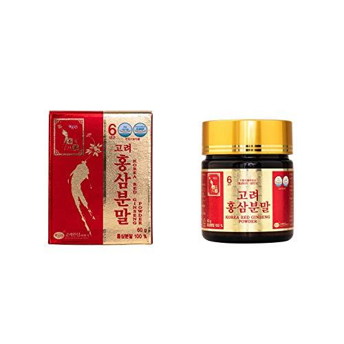 Ginseng Rojo Coreano Puro en Polvo, frasco de 60g