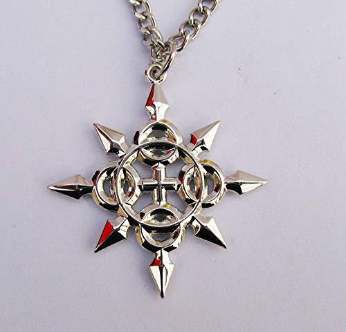 MINGZUO Halskette mit Anhänger aus Metall mit Herzen, Axel, Eternal Flames Symbol