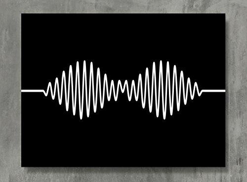 APPLEpie Arctic Monkeys schwarz schwarz Minimalismus Poster High Definition Poster Standard Größe 61x 45,7cm