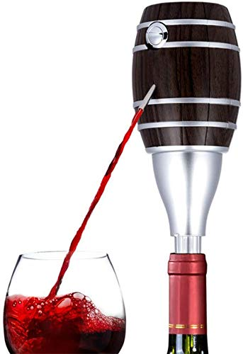 ZKHD Dispensador de Aire de Vino eléctrico Portátil, Vino eléctrico Aerador de Vino Sistema Difusor de Air Decantador de Aire, Accesorios de Vino para Amantes del Vino, Alimentado con baterías