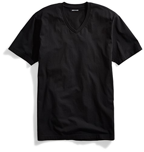 Amazon Brand - Goodthreads Men's The Perfect V-Neck T-Shirt Short-Sleeve Cotton, Black, Large