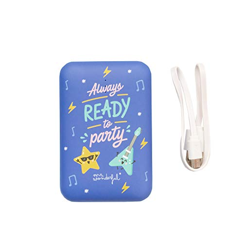 Mr. Wonderful 8436557693099 - Batería Externa de 10.000 mAh, Color Azul