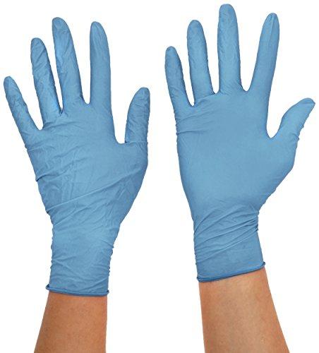 Supermax 63885Aurelia robusto Plus guantes de nitrilo, manga larga, sin polvo, talla XS, color azul (Pack de 100)