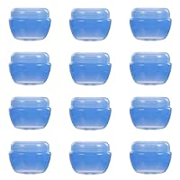 KESYOO クリームケース 30g クリームジャーボトル クリーム容器 プラスチック 30個セット コスメ用詰替え容器 化粧品ケース 空容器 小分けボトル 詰め替えボトル 携帯用 (ブルー)