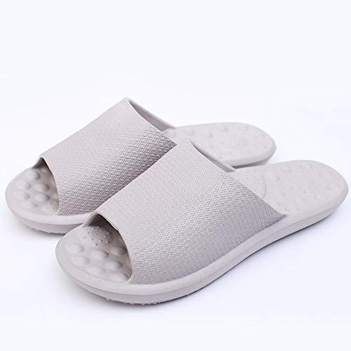 Nwarmsouth Unisex Adulto Zapatillas de baño,Sandalias Antideslizantes de Suela Blanda, Zapatillas de Masaje para el hogar-Gris Claro_42-43,Zapatillas Interior Piso
