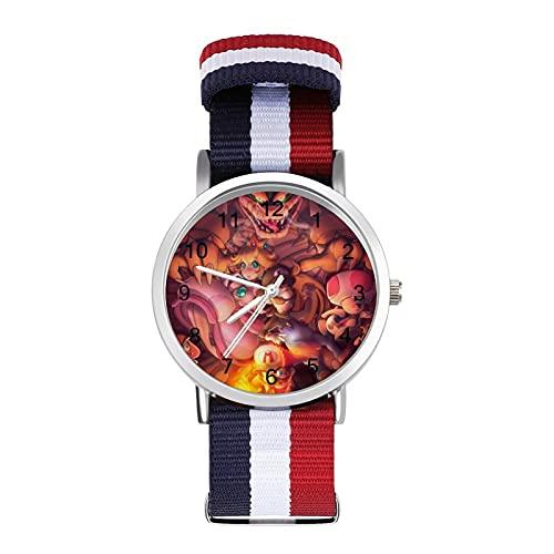 Super Mario Cool - Reloj de ocio para adultos con trenza de escala ajustable y elegante espejo de cristal de 1.6 pulgadas para hombres y mujeres