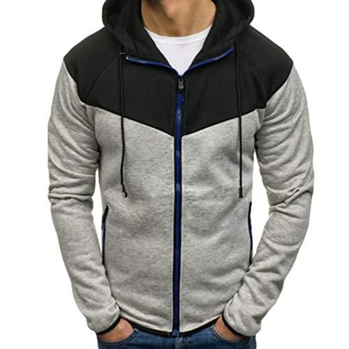 Tookang - Chaqueta de manga larga con capucha para hombre