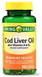 Best Spring Valley - Cod Liver Oil with Vitamin A & D 100 softgels by Spring Valley Review