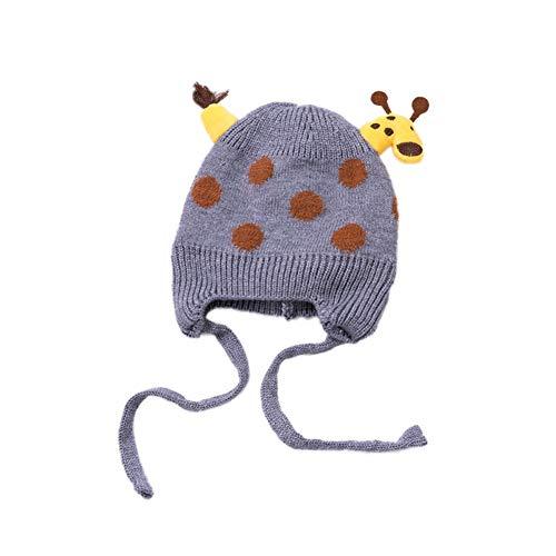 Baywell Baby Giraffe Stricken Hüte Kleinkind Earflap Beanies Warme Muze