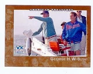 George H. Bush George W. Bush baseball card (President of the United States) 2001 Topps American Pie #148