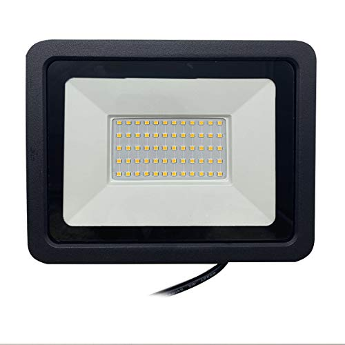 Refletor Holofote LED Eco SMD 100w - Branco Quente Decoração Casa Loja Jardim