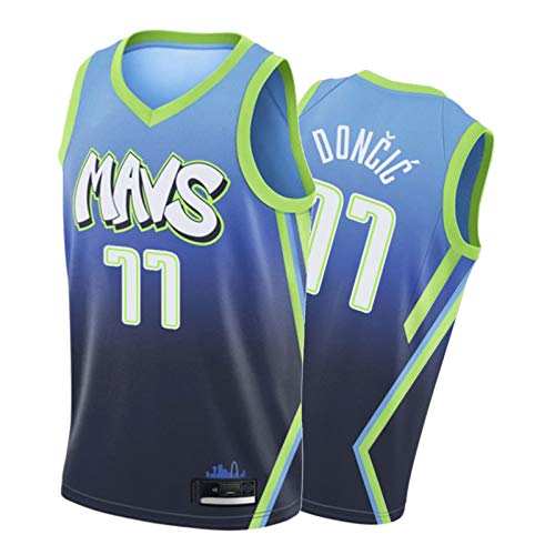 Juventud Lǔkǎ Dǒncǐc, 2021 Men's Basketball Game Jersey, City Edition Team Jersey Blue-M