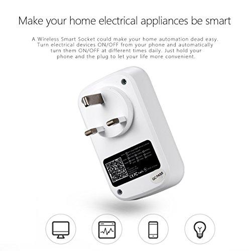 Xcellent Smart global Toma eléctrica de control remoto y temporizador Wifi Automatización Electrónica para sus electrodomésticos desde cualquier lugar con la Aplicación Domótica para Smartphone Android y Apple S-PC019