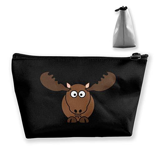 Cartoon Animal Mignon élan Portable Maquillage Sac Stockage Grande Capacité Sac Main Travel Wash Bag